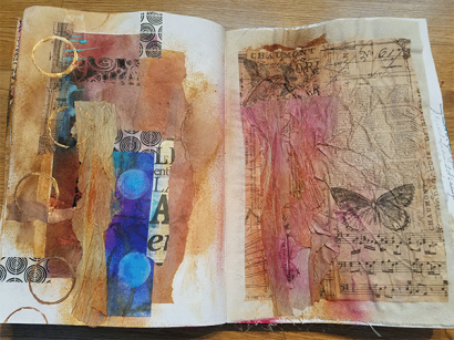 Pages from Donna's Dina Wakely Media Journal